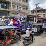 カンボジアの選挙活動に出くわしました。